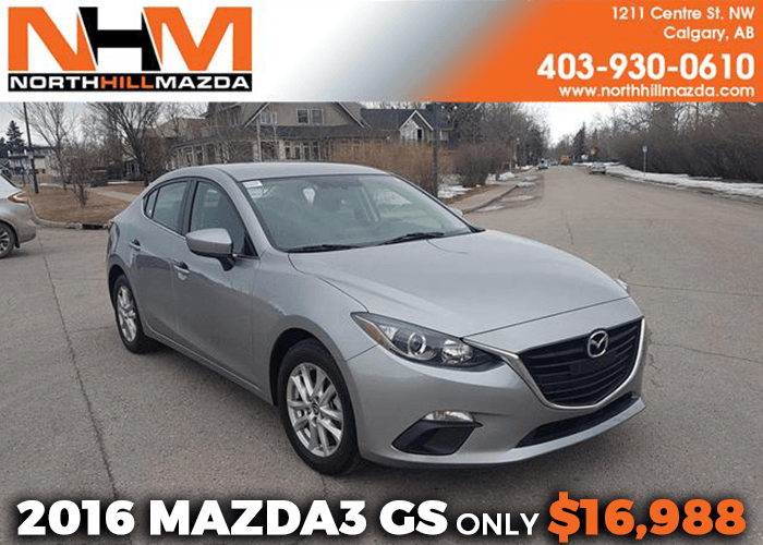 Get a Pre-Owned 2016 Mazda3 GS for only $16,988!