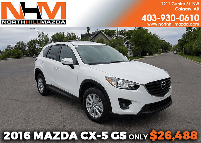 Get a Pre-Owned 2016 Mazda CX-5 GS for only $26,488!