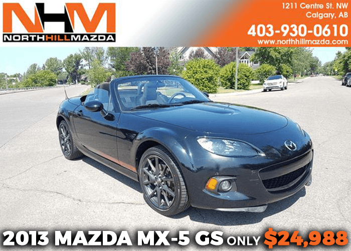 Get a Pre-Owned 2013 Mazda MX-5 GS for only $24,988!