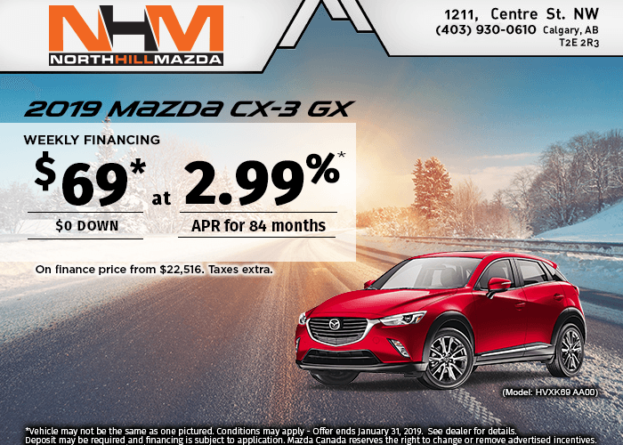 FINANCE A NEW 2019 MAZDA CX-3 GX FROM $69 A WEEK!