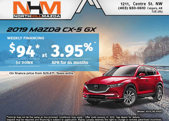 FINANCE THE 2019 MAZDA CX-5 GX FROM $94 A WEEK!