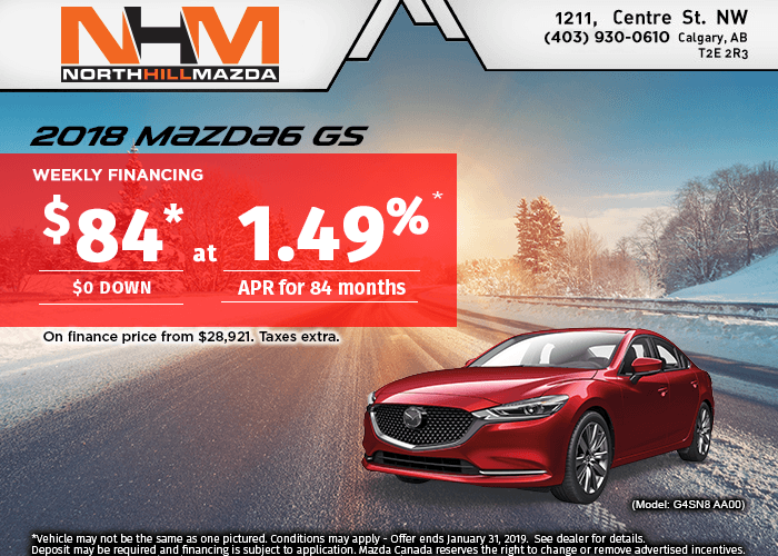 FINANCE A NEW 2018 MAZDA6 GS FOR $84 A WEEK!