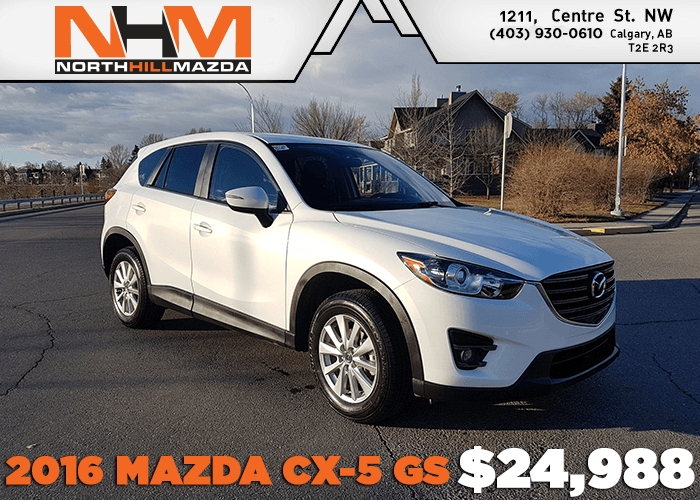 Get a Pre-Owned 2016 Mazda CX-5 GS for only $24,988!