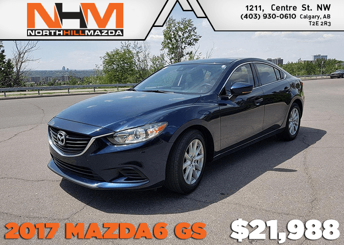Get a Pre-Owned 2017 Mazda6 GS for only $21,988!